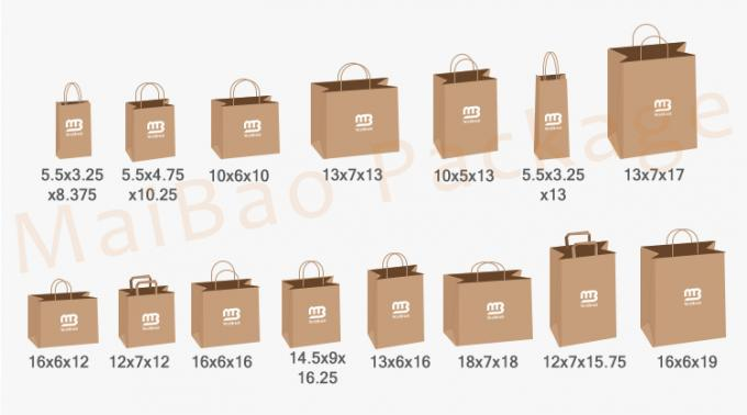 Shopping Industrial Use Kraft Paper Bag
