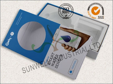 China Water Sensor Electronics Packaging Boxes With Visual PVC Window Matt Lamination supplier
