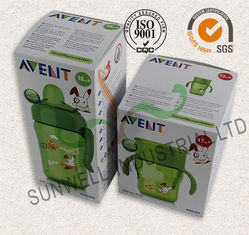China Milk Bottle Colored Corrugated Packaging Boxes , Custom Sized Cardboard Boxes supplier