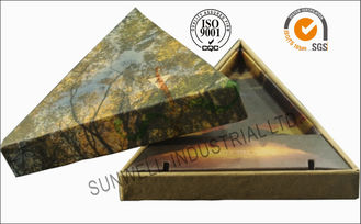 China Triangle Handmade Mounting Custom Printed Corrugated Boxes With Hard Insert Cardboard supplier