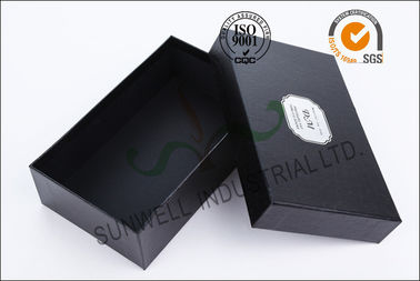 China Black Luxurious Leather Belt Corrugated Packaging Boxes Custom Logo Printed supplier