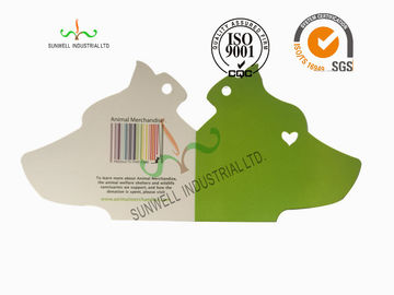 China Laser / Straight Cut Design Clothing Hang Tags Foldable Eco Friendly supplier