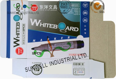 China Custom Made Office Marker Packaging Paper Box Offset Printing White Board supplier