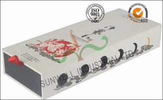 China Handmade Cardboard Food Packaging Boxes , Glossy Finish Tea Packaging Box supplier