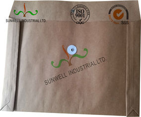 China Kraft Paper Custom Printed Business Envelopes With String Closure Accordion Shape supplier