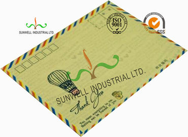 China Standard Size Kraft Paper Custom Printed Envelopes With UPC Barcode Printing Edge supplier