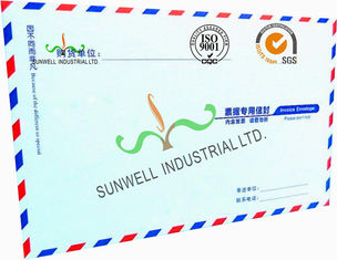 China Offset Paper Custom Printed Business Return Envelopes With Multi Color Edge supplier