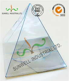 China Handmade Custom Gift / Craft Clear Packaging Boxes Triangle Glossy Lamination supplier