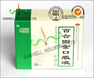 China Recycled Medicine Packaging Box With Barcode White Color Glossy Finished supplier