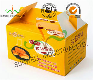China Custom Printed Foldable Cardboard Food Packaging Boxes For Cup Cake / Dessert Packing supplier