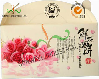 Flower Cookies Cardboard Food Packaging Boxes , Disposable Cardboard Food Containers