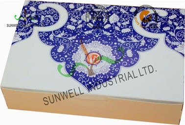 China Both Sides Printing Cardboard Food Packaging Boxes , Mooncake Display Packaging Box supplier