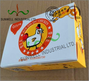 China Double Wall Cardboard Food Packaging Boxes , Disposable Cardboard Burger Boxes supplier