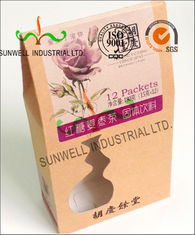 China PVC Windows Cardboard Food Packaging Boxes , Self Closing Cardboard Takeaway Containers supplier