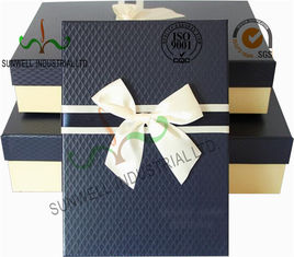 China Recycled Multi Colored Retails Handcrafted Gift Boxes Ribbon Bow Decorated Packaging supplier