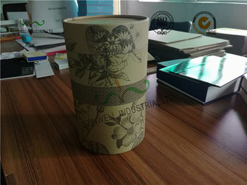 China SGS Cardboard Food Packaging Boxes , 230 GSM Kraft Paper Cylinder Box Packaging For Tea supplier