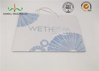 Customized Logo Cardboard Shopping Bags Recycled White Paper Bag With Handle