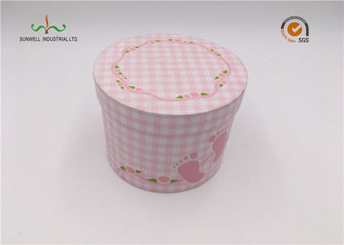 China Pink Color Round Cardboard Cylinder Tubes Presents Luxury Paper Gift Box Packaging supplier