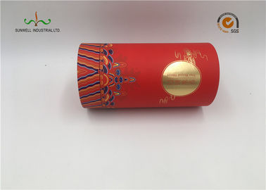 China Recycled Offset Printing Cardboard Cylinder Tubes Handmade For Tea Packaging supplier