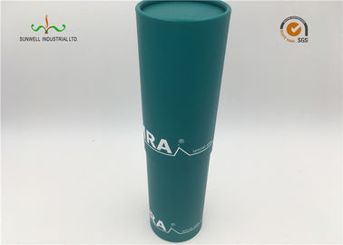 China Custom Made Cardboard Paper Craft Tube Packaging With Silver Hot Stamp supplier