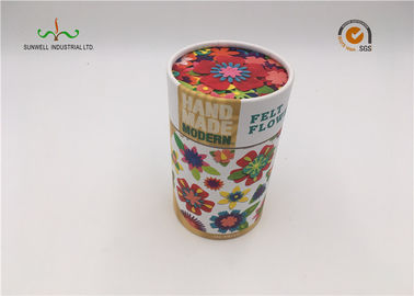 China Handmade Custom Cardboard Cylinder Tubes , Round Paper Tea Box With Your Logo supplier