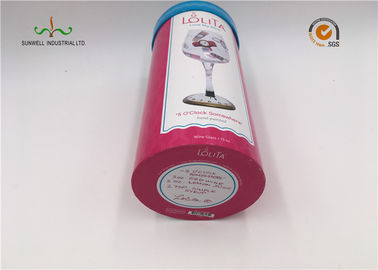 China Glass Packaging Cardboard Cylinder Tubes Eco Friendy 157G Coated Paper supplier