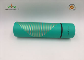 China Tea Packing Green Color Cardboard Cylinder Tubes Cylinder Paper Box With Lids supplier