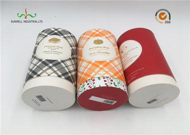 China Art Paper Cylinder Packaging Box , T - Shirt Tube Packaging For Clothing Packaging supplier