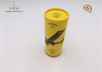 China Yellow Color Cardboard Cylinder Tubes Wine Packaging Umbrella Round Tube Box supplier