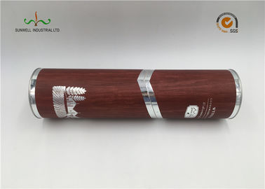 China SGS Printed Cardboard Tubes / Serialized Products Packaging Round Tube Box With Lid supplier
