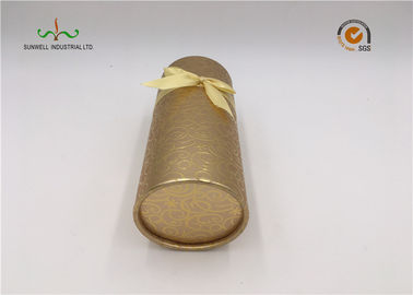 China Recycled Cylindrical Cardboard Tubes / Brown Kraft Paper Tube Packaging supplier