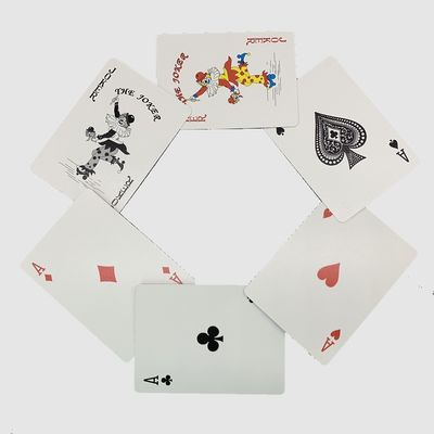 Full Color Printing Glossy Lamination 300gsm Playing Cards Poker