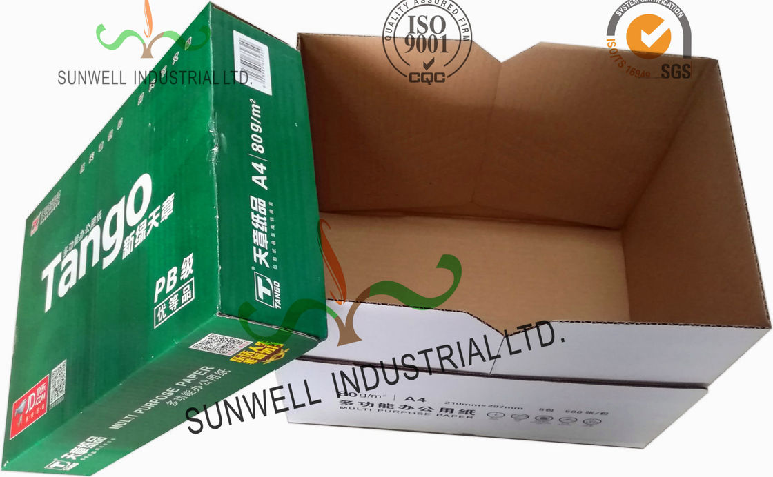 Corrugated Cardboard packaging Office Paper Box With Handle