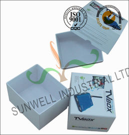 Corrugated Coated Paper Electronics TV Packaging Boxes White Color Matt Lamination