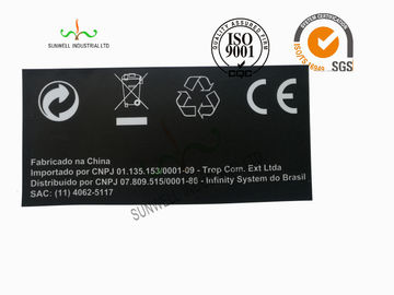 Back Ground Custom Logo Print Sticker Labels Synthetic Paper Black Color
