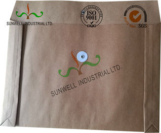 China Kraft Paper Custom Printed Business Envelopes With String Closure Accordion Shape factory