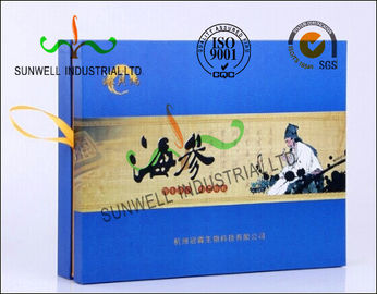 China Matt Lamination Retangle Pharmaceutical Packaging Box With Glossy Tape For Opening factory