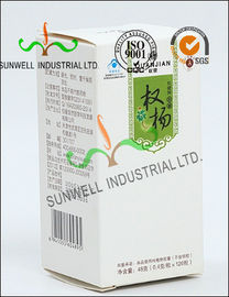 China Metallic Lamination Medicine Packaging Box , Vials Bottle Cardboard Packing Boxes factory