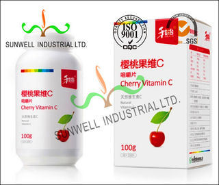 China Fruit Vitamin Bottle Medicine Packaging Box CMYK Color Printing Cardboard factory