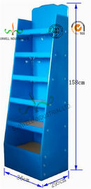 Dual Function Cardboard Counter Display Stands , Cardboard Floor Display Stands