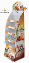 China Custom Printed Pop Up Cardboard Display Stands / Shelves / Racks Corrugated Assembled factory