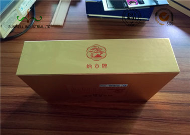 China Gloden Face Finishing Embossing Paper Packing Box For Candy SGS factory
