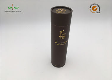 China Gold Foil Printed Cardboard Cylinder Packaging / Paper Tube Packaging For Coffee factory