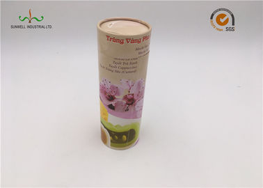 "China Roll Edge Cardboard Cylinder Tubes 3.5"" Diameter  Gift Tea Box Packaging factory"
