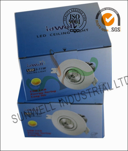 Electronic LED Ceiling Light Bulb Packaging Boxes , Consumer Electronics Packaging