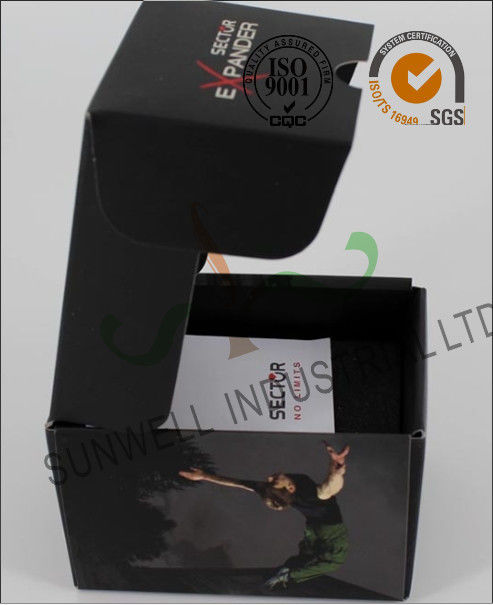 Black Custom Printed Corrugated Packaging Boxes For Elegant Watch / Electronics