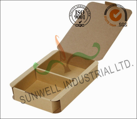 Brown Color Custom Printed Corrugated Cardboard Gift  Boxes Rigid Foldable