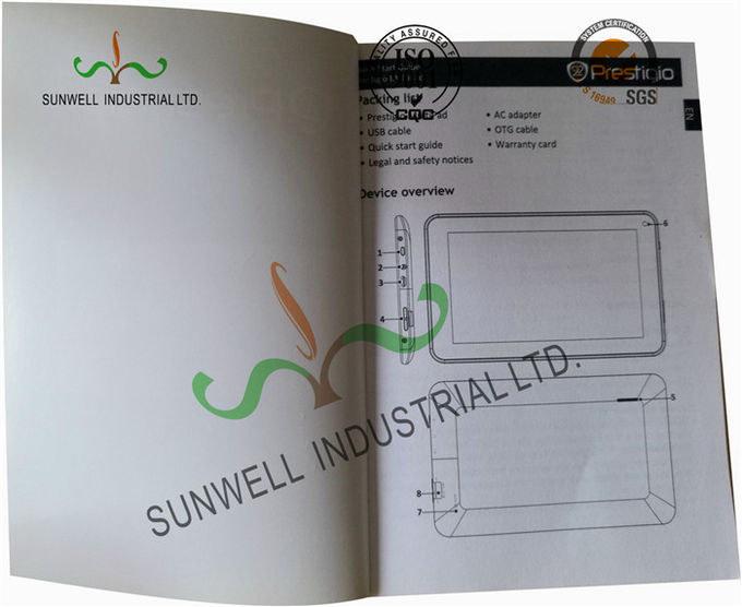 Logo UV Coating Custom Printed Softbook Booklets , Custom Pocket Folders