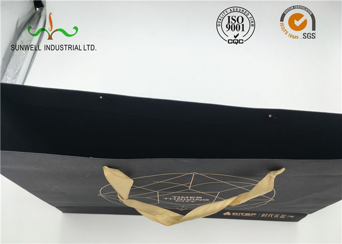 Hand Length Handle Cardboard Shopping Bags Industrial Use FSC Certified