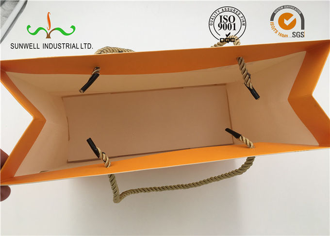 Eco Friendly Cardboard Shopping Bags With Round String Handles , Printed Your Own Logo